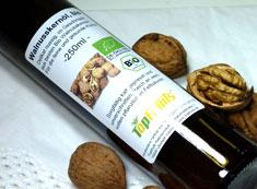 Walnussöl (Walnusskernöl), kalt gepresst, bio kbA, Rohkost Qualität